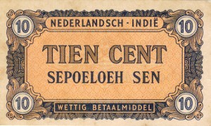 Netherlands Indies 10-Cent Proof Note
