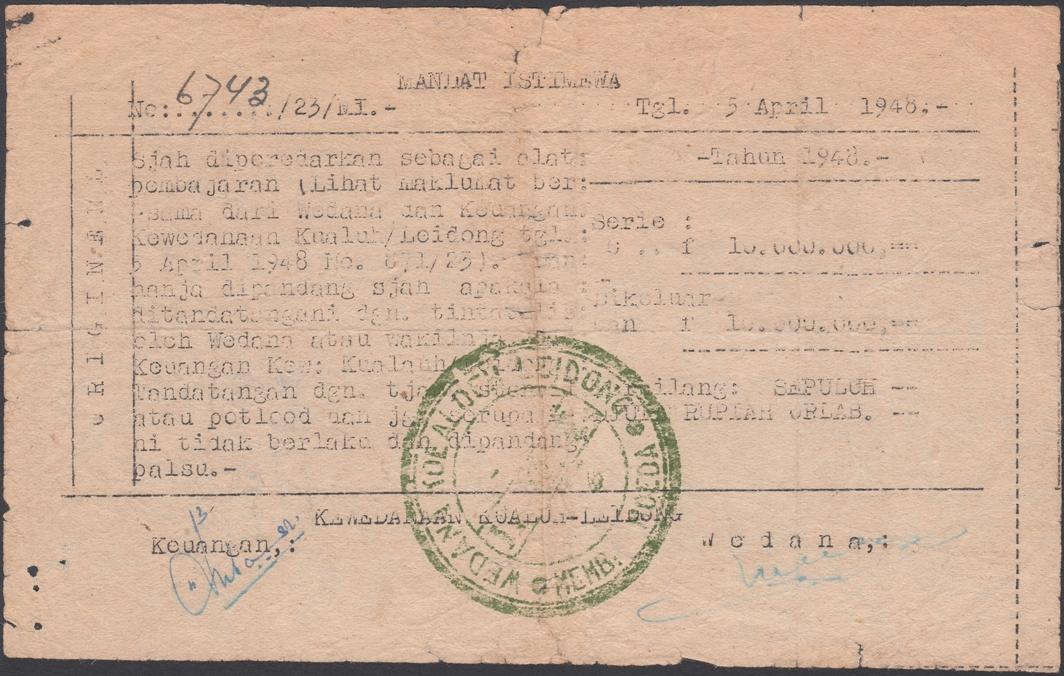 Koealoeh Leidong, Membang Moeda, 1947-1948