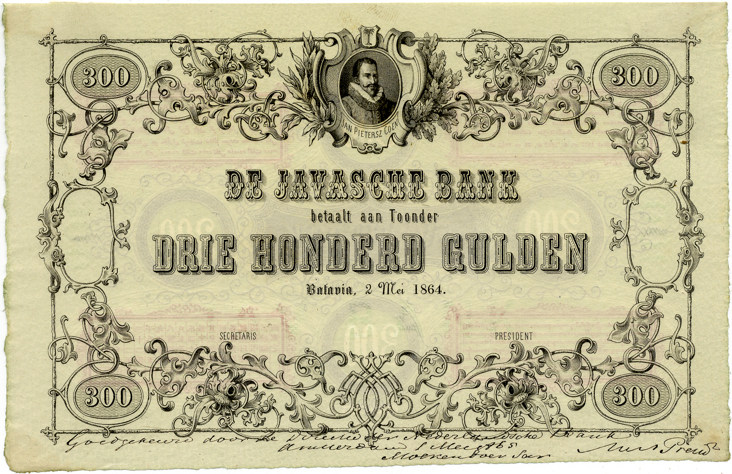 De Javasche Bank note issues 1864-1895