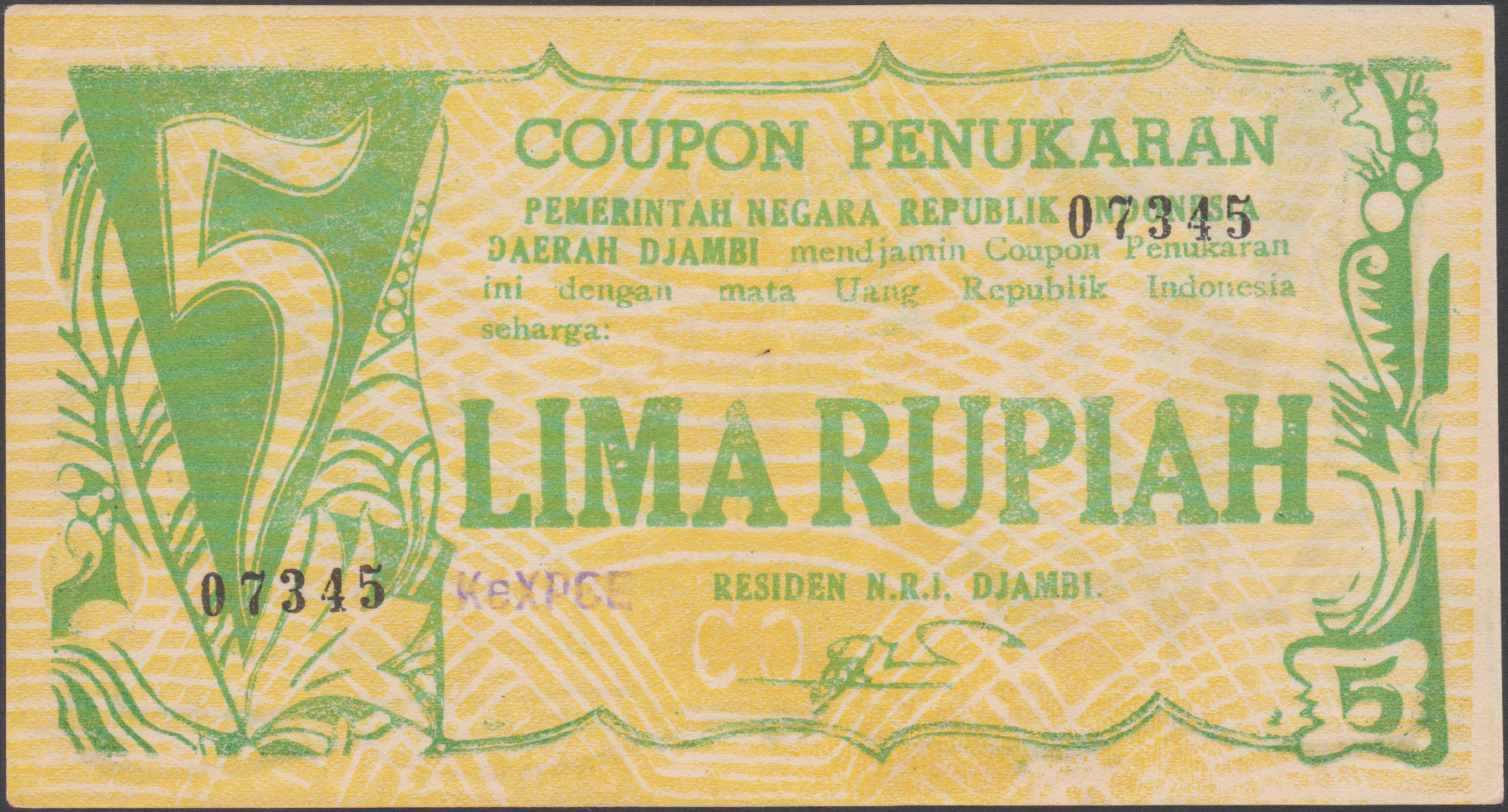 Djambi – letter combinations on  the yellow notes